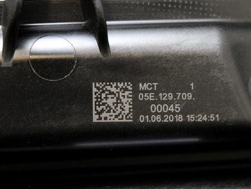 Datamatrix laser marking on automotive components