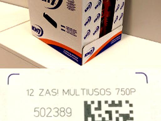 Macsa Laser Marking on cardboard