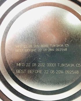 Metal lid laser marking by Macsa Fiber 20 watts (F9020_Laser