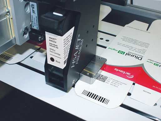 Printing on carton packs by HSA Thermal Inkjet Printers