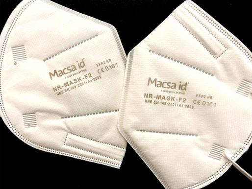 Marking of FFP2 surgical masks by Macsa D-5005 Green Laser