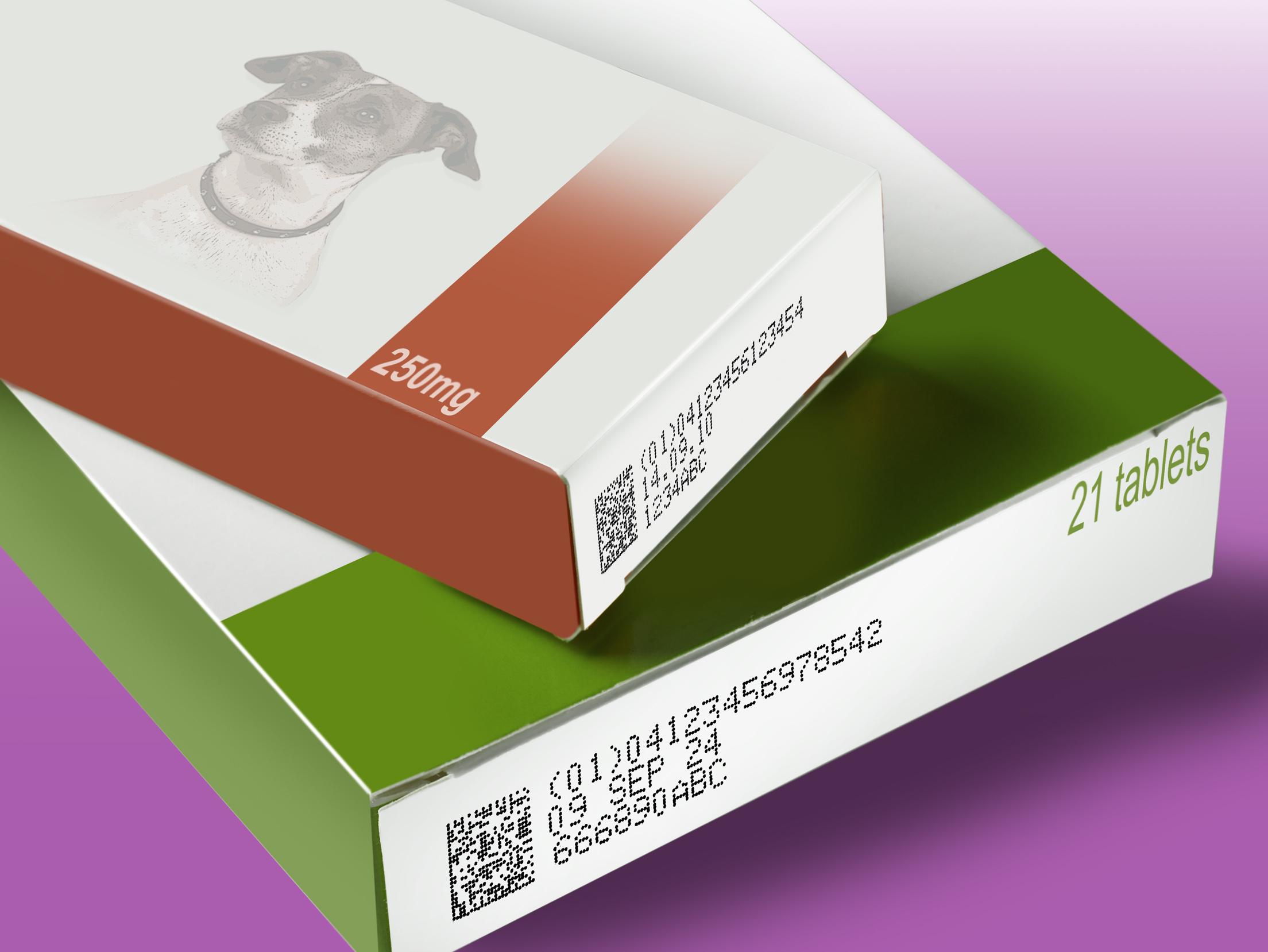 2D Data Matrix Code Animal Health Produc