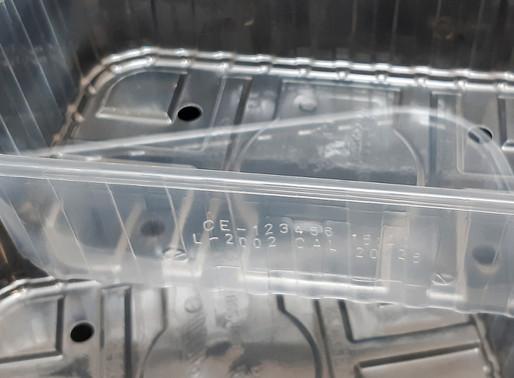 Polypropylene (PP) tray laser coding   Macsa CO2 Laser