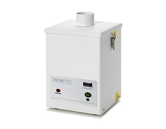 The DentalPRO Mono under bench fume extraction system effectively removes toxic fumes and vapours emitted by the mixing of monomers in dental laboratories.