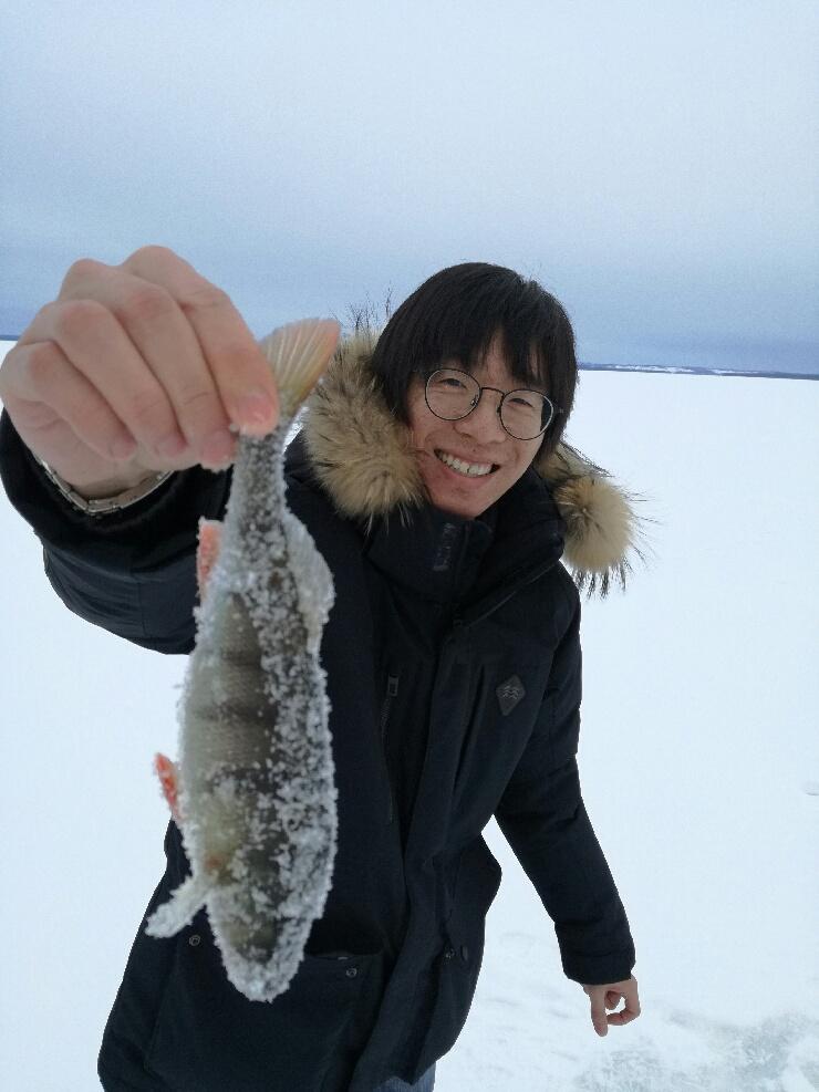 Isfiske på Storsjön
