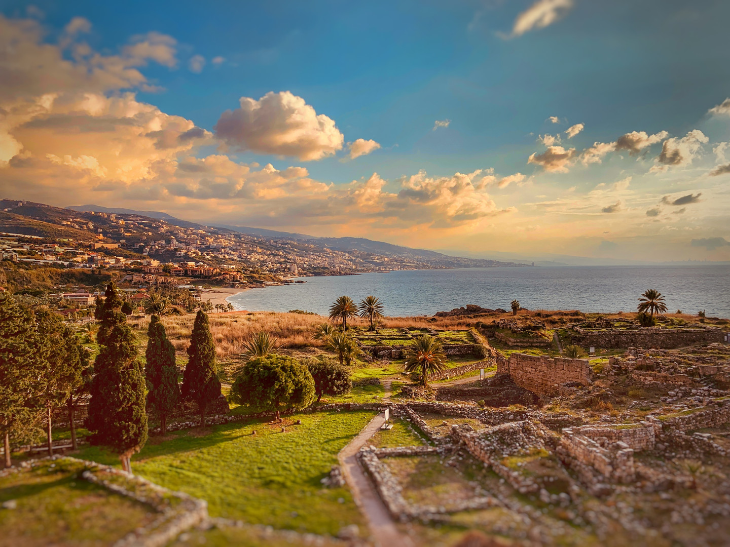 Byblos Viewed from an Antique Region