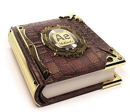 book gold logo