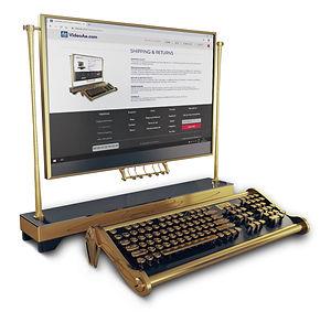 pc steampunk keyboard