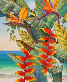 Beach View & Butterfly II