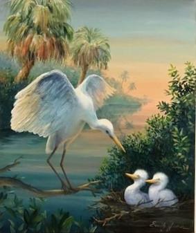 Everglades Egrets
