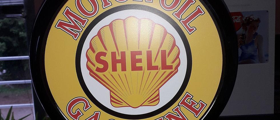 """Globe de pompe """"SHELL""""  Sérigraphiée avec éclairage"""