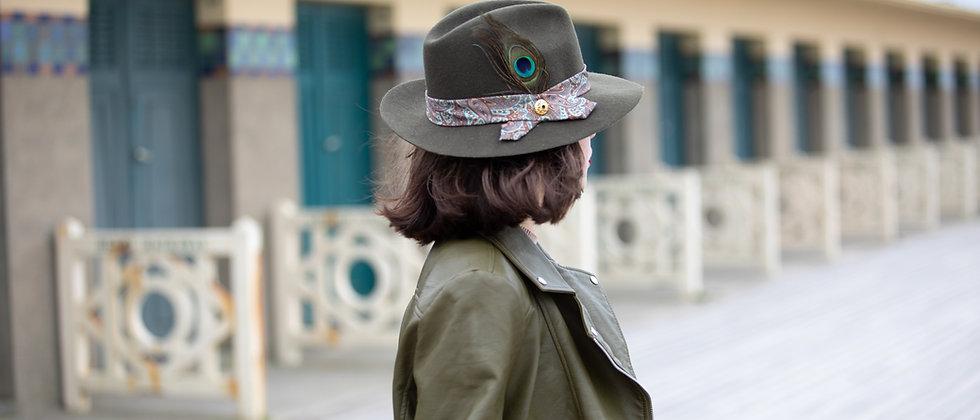 Chapeau kaki  en feutre personnalisé