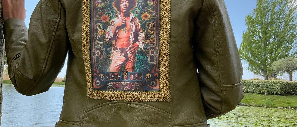 Veste perfecto personnalisée Jimmy Hendrix