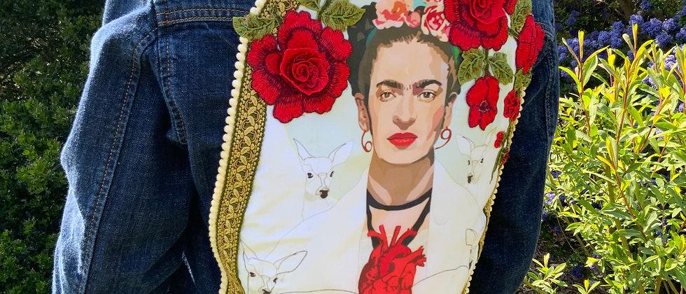 VEste jean Lévis personnalisée Frida Kahlo