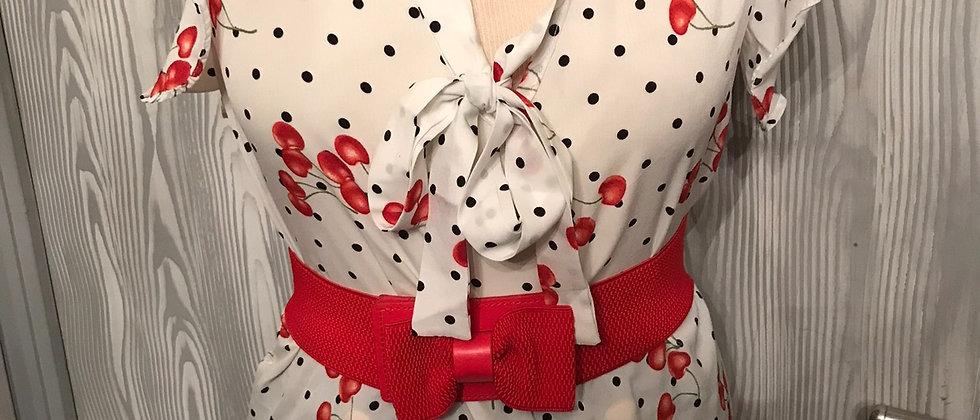 blouse pin-up vintage cerise