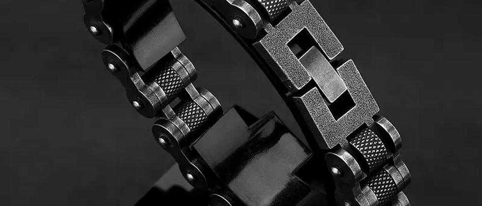 bracelet homme chaine épaisse en acier inoxydable