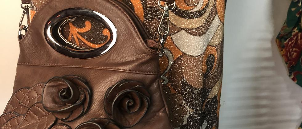 Sac à main rétro marron