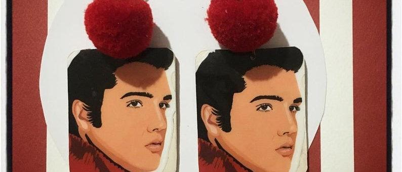 """Boucles d'oreilles """"Elvis Presley"""""""