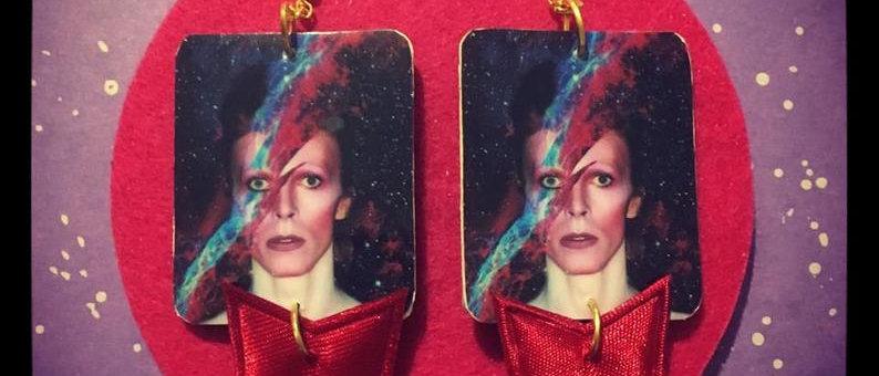 """Boucles d'oreilles """"David Bowie"""""""