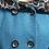 Thumbnail: Manteau Turquoise Capuche Tissus Fleurie