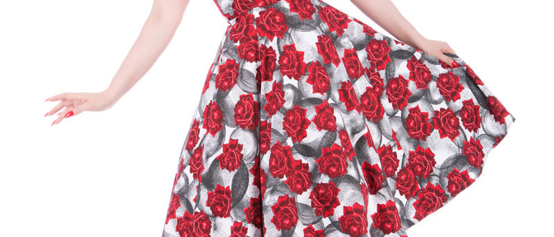 """Robe swing Florale """"Red Roses"""""""