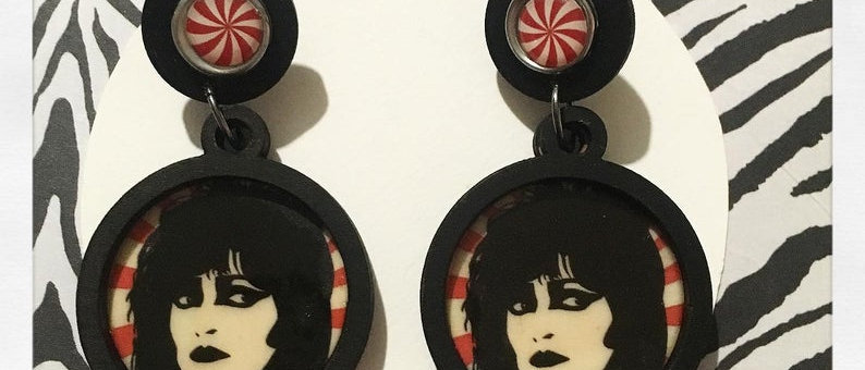 """Boucles d'oreilles """"Siouxie and the banshees"""""""