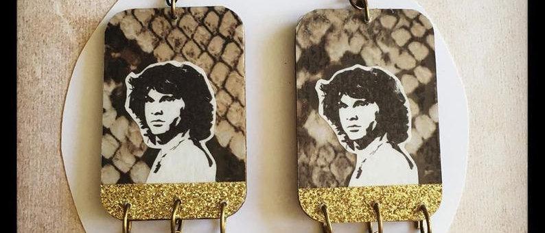 """Boucles d'oreilles """"Jim Morrison"""""""