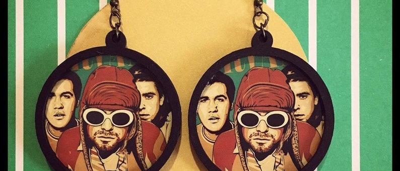 """Boucles d'oreilles """"Kurt Cobain"""""""