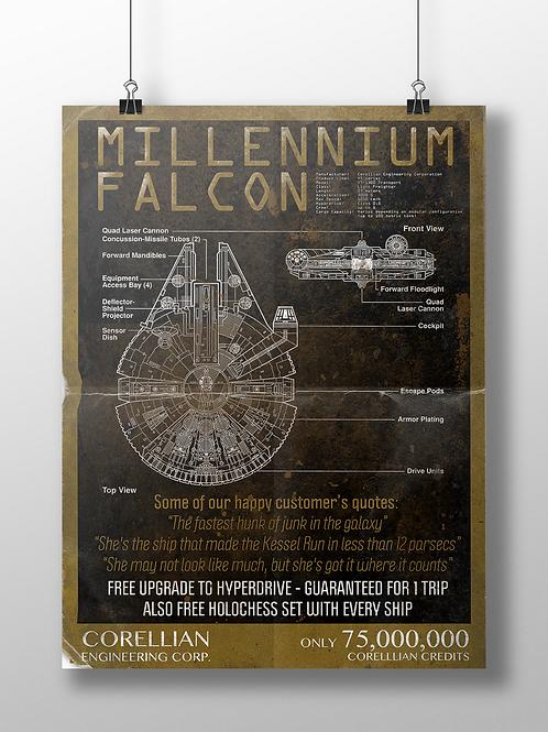 Millennium Falcon Sales Flyer / Poster
