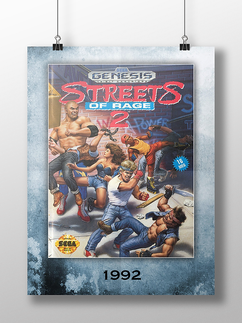 Streets of Rage 2 - 1992 - Genesis Cover Art