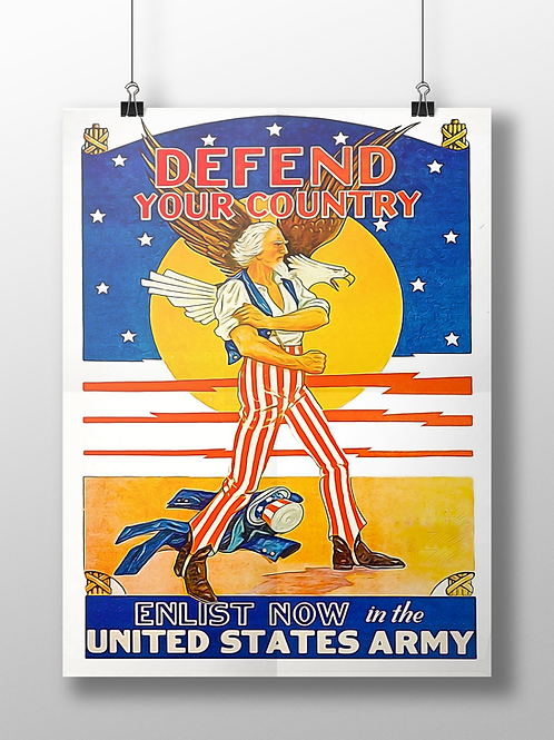 Defend Your Country War Poster