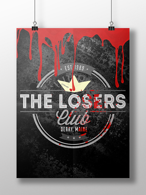 The Losers Club Logo - IT Reboot 1980s