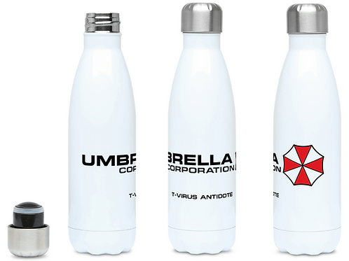 Resident Evil Umbrella Corp T-Virus Antidote Water Bottle