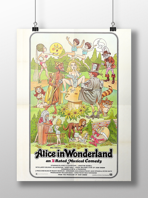 Alice in Wonderland X Rated Poster