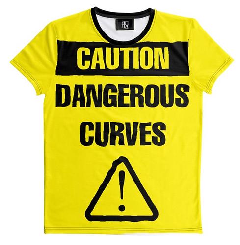 CAUTION DANGEROUS CURVES