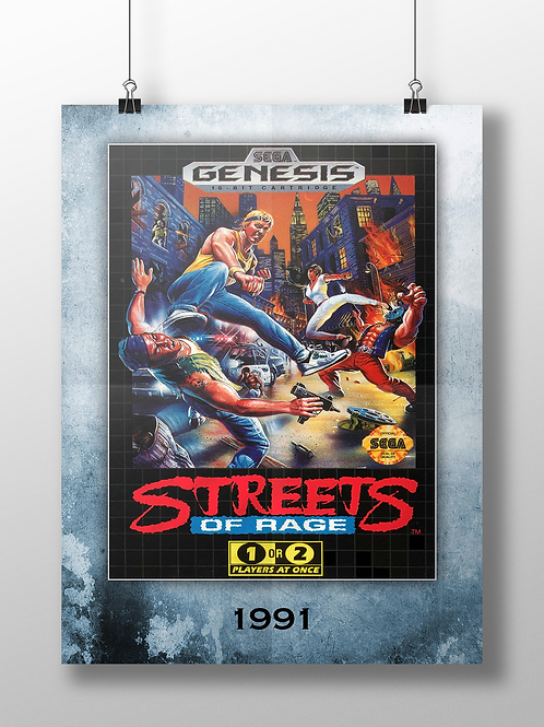 Streets of Rage - 1991 - Genesis Cover Art