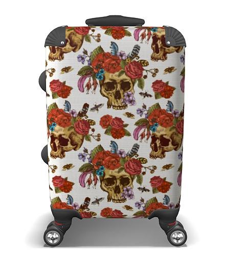 Tattoo Skull & Flowers Hand Luggage Case
