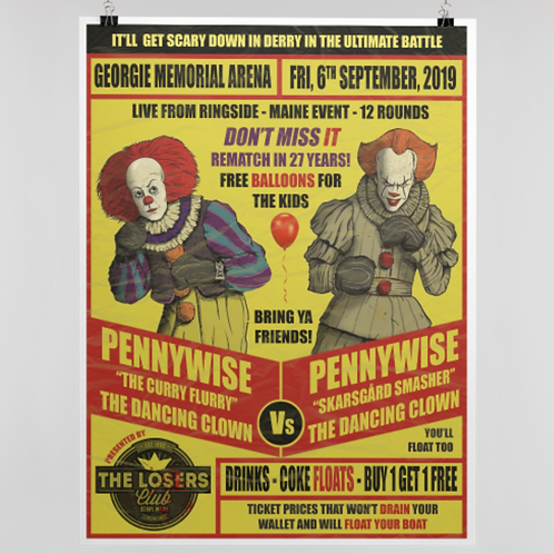 PENNYWISE FIGHT POSTER