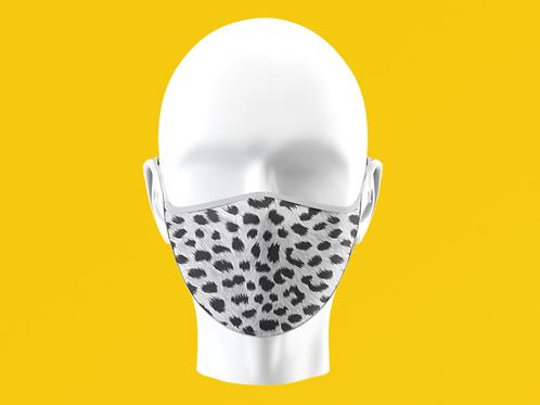 Grey Leopard Print Mask