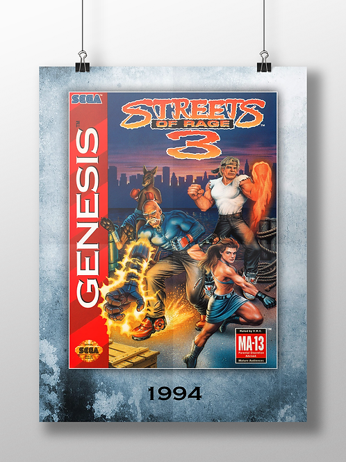 Streets of Rage 3 - 1994 - Genesis Cover Art