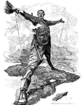 アフリカの植民地の風刺画