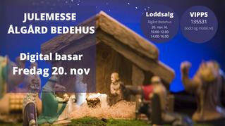 Julemesse Ålgård Bedehus - 20. november- Digitalt!