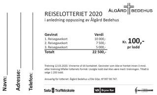 Reiselotteri 2020!