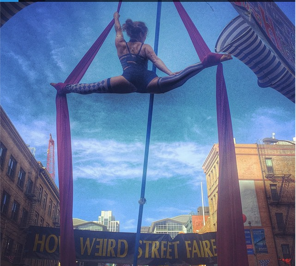 Performing at How Weird Street Faire
