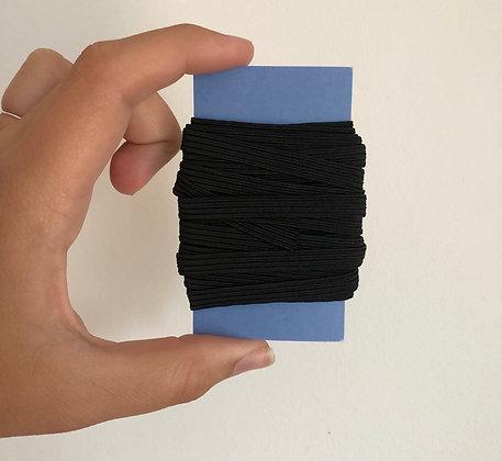 Paquet de 5m d'élastiques noir 6mm