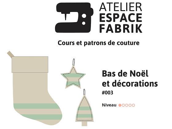 Bas de Noël et décorations - Patron PDF