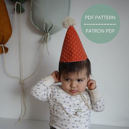 Chapeau d'anniversaire - Patron PDF