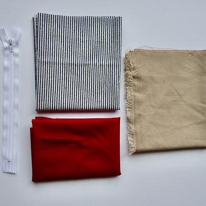 Ensemble - Création de la trousse de couture (rouge)