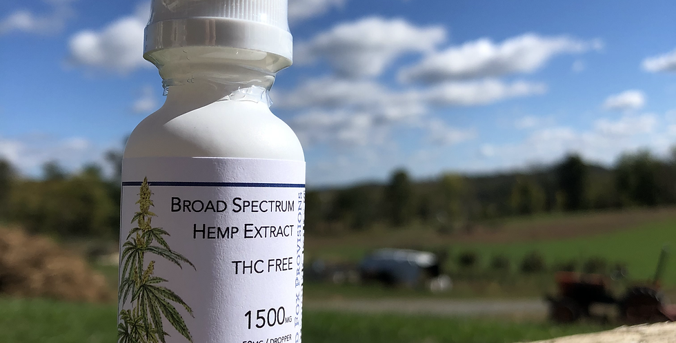 1500mg Broad Spectrum THC-FREE Unflavored Tincture