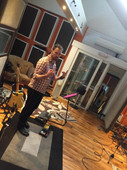 Emily Capell in the recording studio